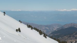Skifahren mit Meerblick Griechenland Peloponnes