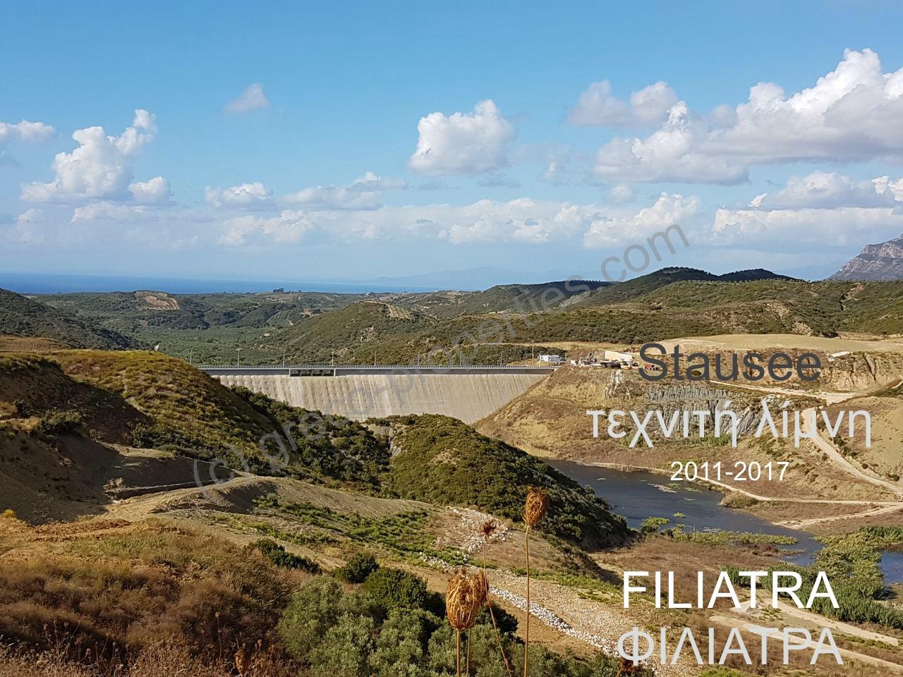 Staudamm Stausee Filiatra Christianoupolis Griechenladn Peloponnes Messenien
